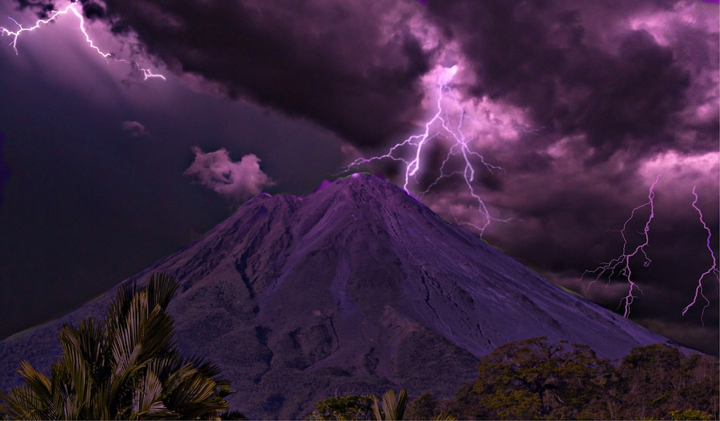 Thunder storm in Costa Rica